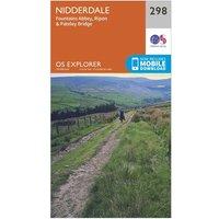 Ordnance Survey Explorer 298 Nidderdale Map With Digital Version, Orange