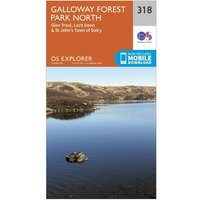 Ordnance Survey Explorer 318 Galloway Forest Park North Map With Digital Version, Orange
