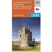 Ordnance Survey Explorer 320 Castle Douglas  Loch KenandNew Galloway Map With Digital Version  Orange