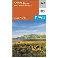 Ordnance Survey Explorer 322 Annandale Map With Digital Version, Orange