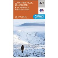 Ordnance Survey Explorer 329 Lowther Hills, Sanquhar & Leadhills Map With Digital Version, Orange
