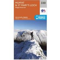 Ordnance Survey Explorer 330 Moffat & St Marys Loch Map With Digital Version, Orange