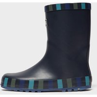 Peter Storm Boys Striped Trim Wellies, Navy