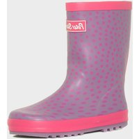 Peter Storm Girls Spotted Trim Wellies, Purple
