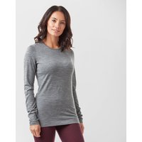 Icebreaker Women's 200 Oasis Long Sleeve Crew, Grey