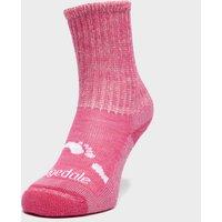 Bridgedale Kids' WoolFusion Trekker Socks, Pink