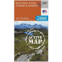 Ordnance Survey Explorer Active 397 Rum, Eigg, Muck, Canna & Sanday Map With Digital Version, N/A