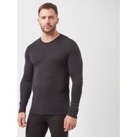 Icebreaker Men's 175 Everyday Long Sleeve Crew, Black/Black