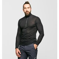 Icebreaker Men's 175 Everyday Long Sleeve Half Zip, BLK/BLK