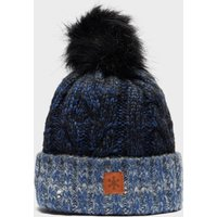 Alpine Women's Gem Bobble Beanie, Blue/Blue