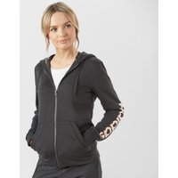 Adidas Women's Essentials Linear Full-Zip Hoodie, Black