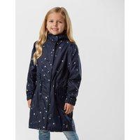 Joules Kids' GoLightly Waterproof Packaway Jacket, Navy