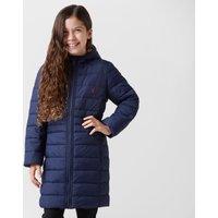 Joules Kids' Kinnaird Long Padded Packaway Jacket, Navy
