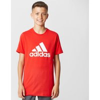 Adidas Kids' Logo Tee, Red