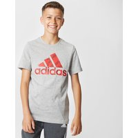 Adidas Kids' Badge of Sport Tee, Grey