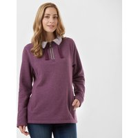 One Earth Women's Soft Half Zip Sweatshirt, PLM/PLM