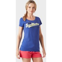 Stone Monkey Women's Appliq Tee, Blue