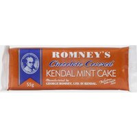 Romneys Chocolate Coated Kendal Mint Cake 55g, Assorted