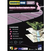 Memory Map Central & Northern England & Wales GPS Maps, Black/Black