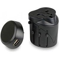 Lifeventure USB Travel Adaptor, Black