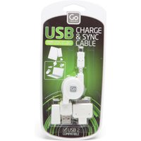 Design Go USB Charging Cable Set, White
