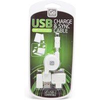 Design Go USB Charging Cable Set, White