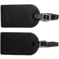 Design Go Leather Luggage Labels Twin Pack, Black