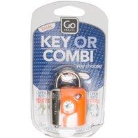 Design Go Dual Combi Key Tsa Luggage Lock - Orange, Orange