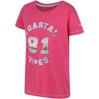 Regatta Girl's Bosley CoolWeave T-Shirt, Pink
