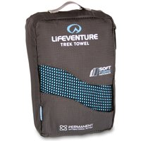Lifeventure Large Soft Fibre Towel, Blue