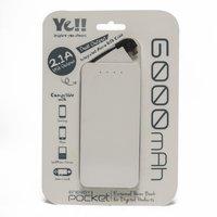 Ye Energy Pocket 4 Micro USB Power Bank, White