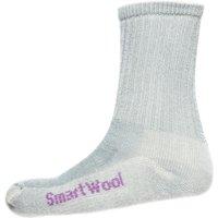 Smartwool Womens Hiking Light Crew Socks, Grey