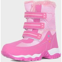 Alpine Girls' Fur Snow Boots, Pink