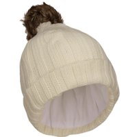 Peter Storm Womens Thinsulate Knit Bobble Hat, Cream