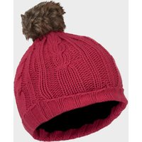 Peter Storm Girls Cable Knit Beanie, Pink