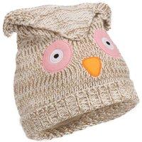 Peter Storm Girls Knitted Owl Hat, Ecru