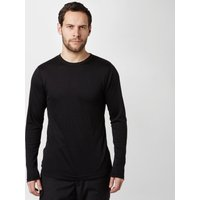Peter Storm Mens Long Sleeve Thermal Crew Base Layer Top, Black