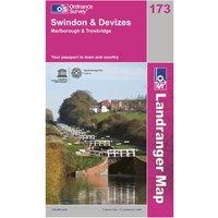 Ordnance Survey Landranger 173 Swindon & Devizes Map, Orange