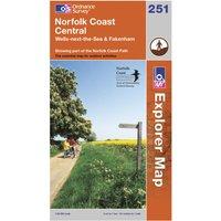 Ordnance Survey Explorer 251 Norfolk Coast Central Map, Assorted