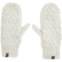 The North Face Cable Knit Mitts, Cream