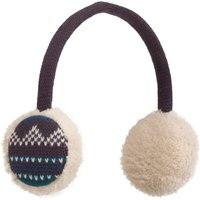Peter Storm Womens Fairisle Earmuffs, Mid Blue