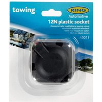 Ring 12N 7 Pin Plastic Socket with Fog Cut Out (A0012), Black/MULTI