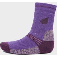 Peter Storm Girls Midweight Trekking Sock (2 pack), Purple