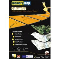 Memory Map Explorer Cotswolds CD ROM - Orange, Orange