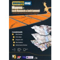 Memory Map Explorer Loch Rannoch and Loch Lomond CD ROM - Orange, Orange