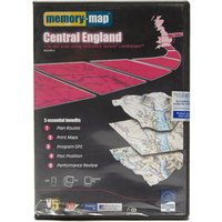 Anquet OS Landranger Central England DVD Map - Black, Black