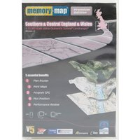 Memory Map OS Landranger Regions 1-3 - Southern & Central England & Wales, White