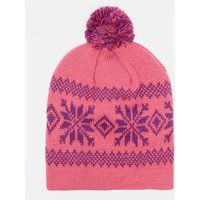 Peter Storm Mens Fair Isle Bobble Hat, Navy