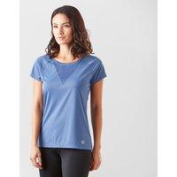 Roxy Women's Chasing Sunset Running T-Shirt, Blue