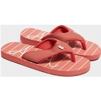 Animal Women's Swish Beach Print Flip Flops, Red